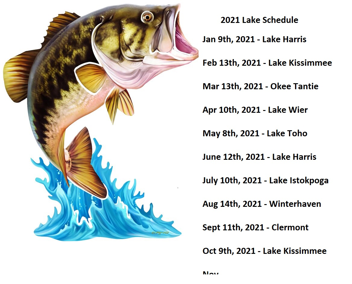 2021 Bay Area Bassmasters Tournament Schedule